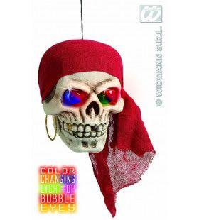 Piratenschedel Met Kleuren Licht 40cm