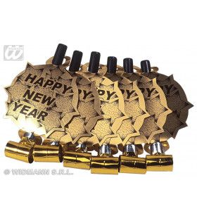 6 Happy New Year Roltongen Goud