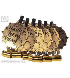 6 Happy New Year Roltongen Goud