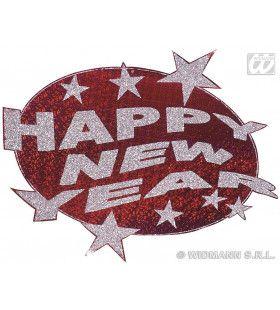 Happy New Year Laserdecoratie Rood