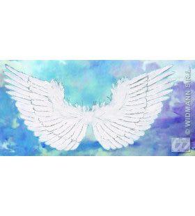 Vleugels Wit Met Zilver Glitter 86x42cm