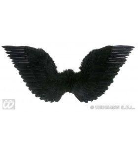 Gevederde Vleugels Zwart 86x31 Centimeter