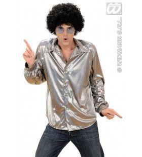 Holografisch Shirt, Zilver XL Man