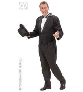 Frackjas Man Zwart Met Satijnen Kraag Kostuum