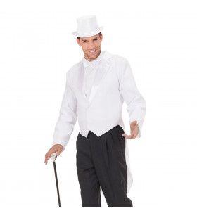 Frackjas Man Wit Met Satijnen Kraag Master Of Ceremonies Kostuum