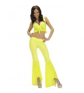 Samba Top En Broek Neon Geel Vibes Kostuum Vrouw