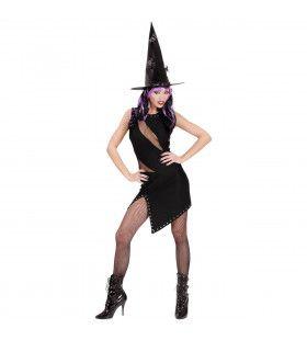 Zwarte Jurk Voor Heks Of Rocker Rock Witch Kostuum Vrouw