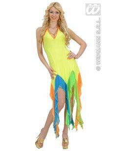 Brazilliaanse Jurk Neon Geel Serpentine Kostuum Vrouw