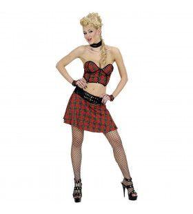 Schotse Rok, Top En Handschoenen Hot Highlander Girl Kostuum Vrouw