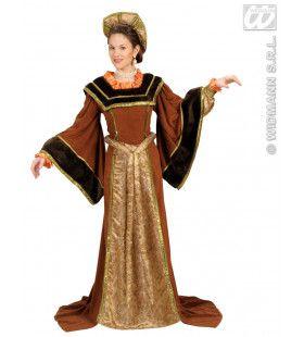 Historische Engelse Vrouw Milady Kostuum