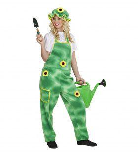 Tuinbroek Tuin Plushe Groene Vingers Volwassen Kostuum
