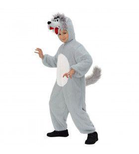 Full-Body Pluche Wolf Kind Kostuum Kind