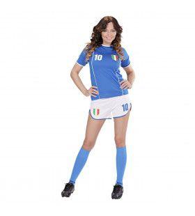 Sexy Voetbal Meisje Italie Vrouw Kostuum