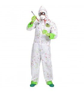 Dr. Toxic Jumpsuit Horror Dokter Volwassen Medium / Large Kostuum Man
