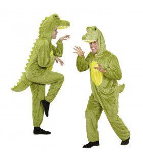 Full-Body Plushe Krokodil Volwassen Kostuum