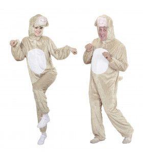 Full-Body Pluche Schaap Volwassen Kostuum