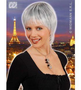 Pruik, Paris Zwart / Wit