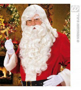 Pruik, Kerstman Met Baard / Snor / Wenkbrauwen