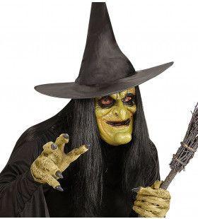 Traditioneel Masker Heks Met Haar, Foam
