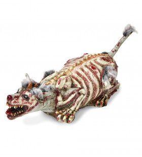 Horror Attribuut Zombie Hond Met Vacht, Verminkt 94cm