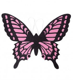 Lieve Vlindervleugels Kind, Zwart / Roze