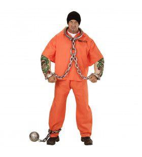 Amerikaanse Gevangene Met Tattoo Man Kostuum