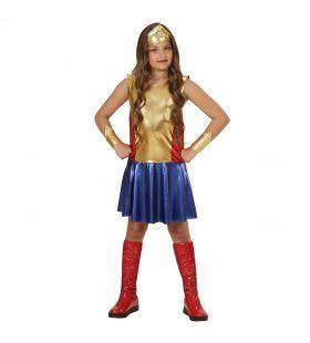 Superheldin Wonder Girl Meisje Kostuum