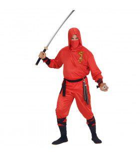 Japanse Ninja Rode Draak Kostuum