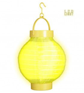 Feestelijke Lampion Met Licht 15cm, Geel