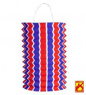 Feestelijke Lampion Rood / Wit / Blauw, Bv