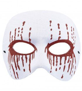 Masker Psychopaat Wit Met Bloedende Ogen Bloody Pierot