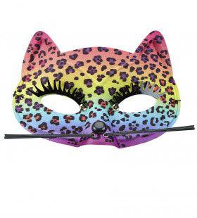 Kleurrijk Oogmasker Luipaard Regenboog