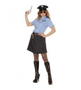 Streng Politiemeisje Vrouw Kostuum