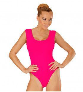 Unicolor Mouwloze Body Volwassen, Roze