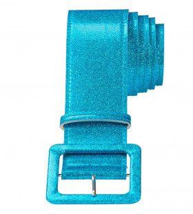 Glamour Riem Glitter 120cm, Blauw