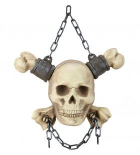 Piraat Ketting Met Schedel En Botten, 28cm