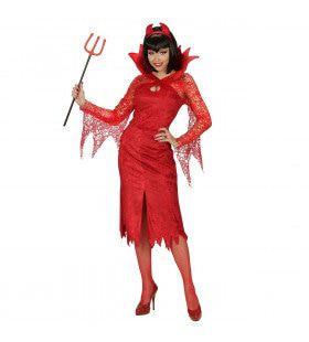 Rode Duivelse Dame Vrouw Kostuum