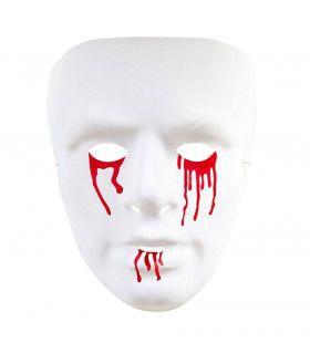 Masker, Bloedende Ogen En Mond Witte Zombie