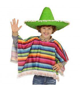 Hola Hombre Mexicaanse Poncho Kind Kostuum
