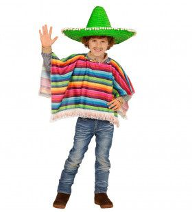 Hola Hombre Mexicaanse Poncho Kind Kind Kostuum