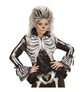 Aansluitend Dames Skelet Vrouw Kostuum