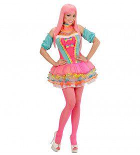 Snoep Fantasie Meisje Regenboog Vrouw Kostuum