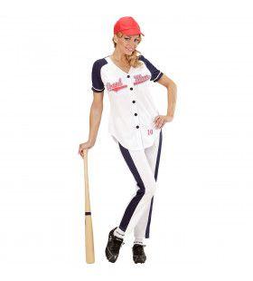 All Star Honkbal Meisje Vrouw Kostuum