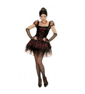 Burlesque Vampier Vrouw Kostuum