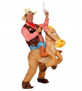 Hilarisch Opblaasbaar Paard Volwassen Kostuum
