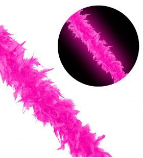 New York City Boa 180cm, Neon Roze