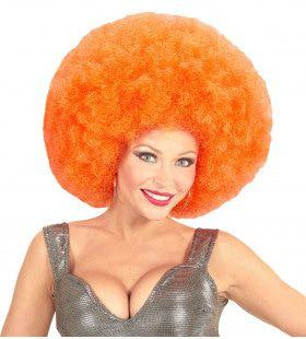 Soul Diva Pruik, Afro Extra Groot Oranje
