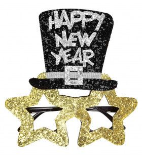 Spetterende Bril, Happy New Year Goud