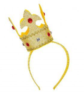 Koning Midas Hoofdband Met Mini Kroon Goud