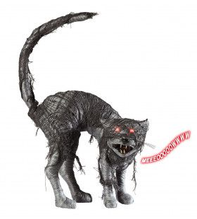 Akelige Zombie Kat Met Licht En Geluid